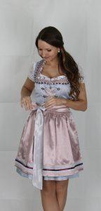 Hofer Trachtenlod´n - Dirndl in einer blau/rosa/silber/weiß Kombination